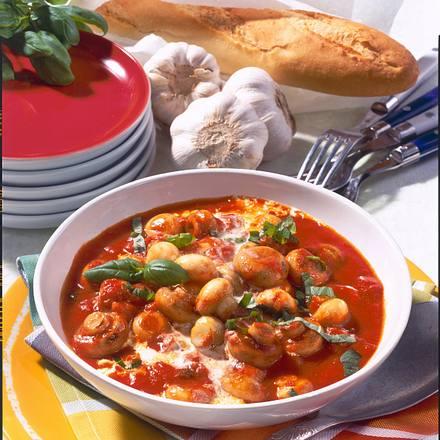 Champignons in Tomaten-Knoblauch-Rahm Rezept