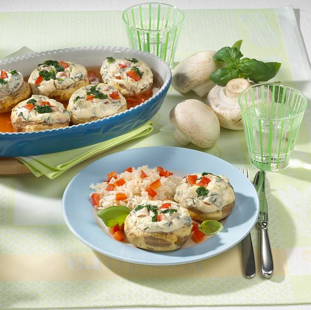 Champignons mit Spinatfüllung Rezept