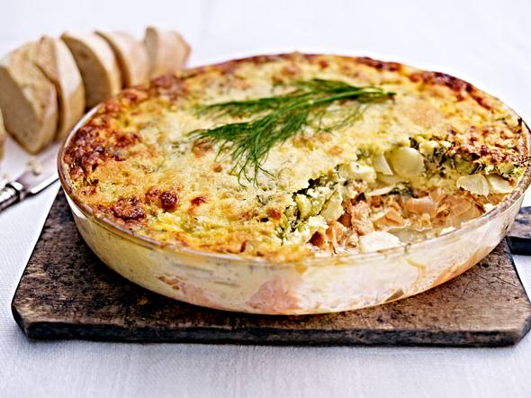 Cheddar-Lachs-Pie Rezept