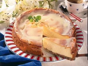 Cheese-Cake mit Crème-Fraiche-Guss Rezept