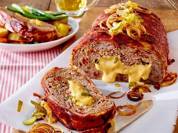Cheeseburger-Braten Rezept