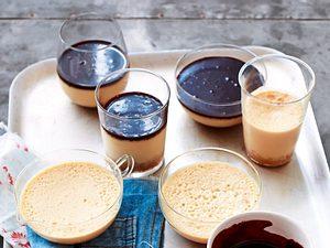 Cheesecake aus dem Glas mit Espressosoße Rezept