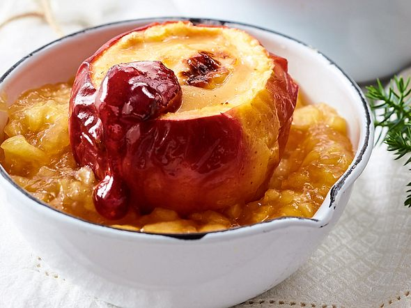Cheesecake im Bratapfel Rezept