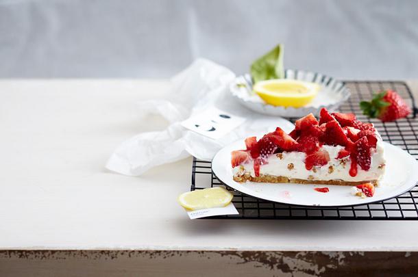 Cheesecake mit Erdbeeren Rezept