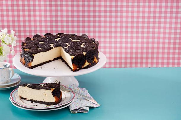Cheesecake mit Kakaokeksen Rezept