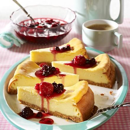 Cheesecake mit roter Grütze Rezept