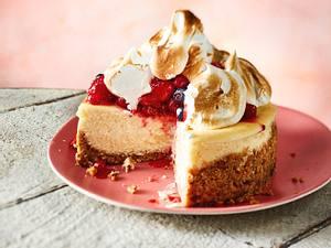 Cheesecake-Törtchen mit Baiserspitze Rezept