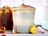 Chiapudding mit Bananen-Zimt-Eis Rezept