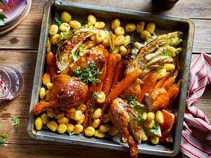 Chicken & Friends Seit an Seit von einem Blech Rezept