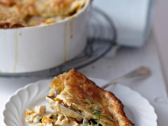 Chicken Pot Pie (Hähnchen à la King) Rezept