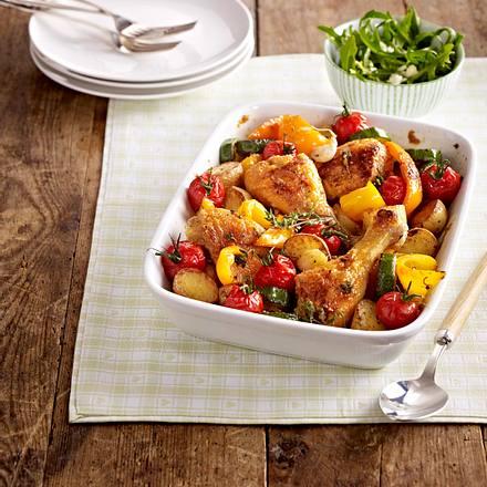 chicken traybake Rezept