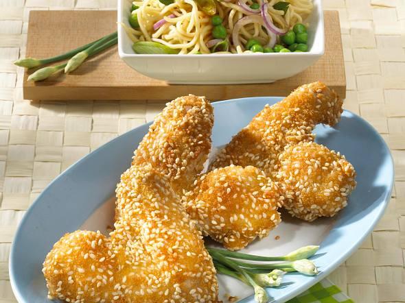 Chicken Wings in Sesamkruste Rezept