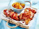 Chicken Wings mit Tomatenketchup und Bacon zu Mango-Chutney Rezept