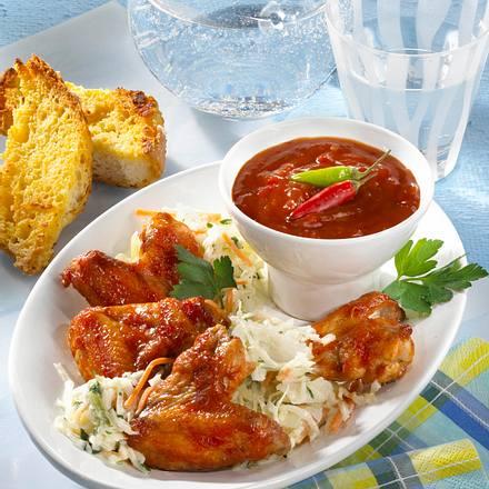 Chicken Wings mit Salat Rezept