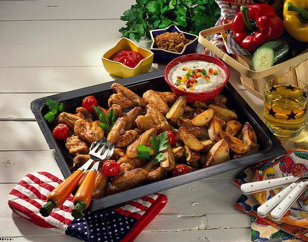 Chicken wings & Country-Kartoffeln Rezept