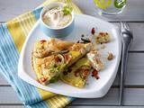 Chicken-Zucchini-Omelett mit Chili-Sour-Cream Rezept