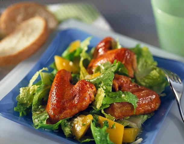 Chickenwings mit Römersalat Rezept