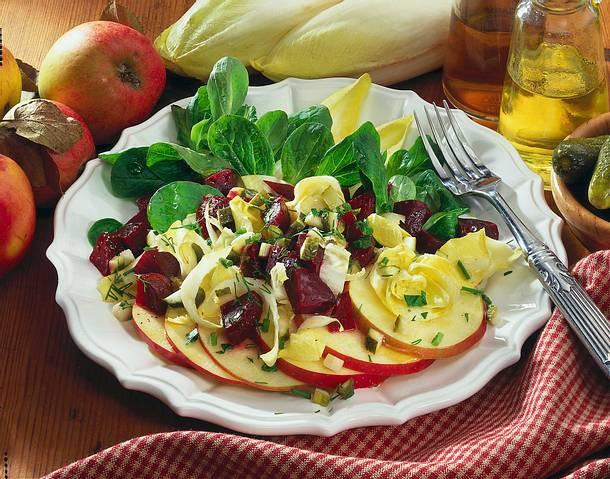 chicoree apfelsalat mit rote bete rezept chefkoch rezepte auf kochen backen und. Black Bedroom Furniture Sets. Home Design Ideas