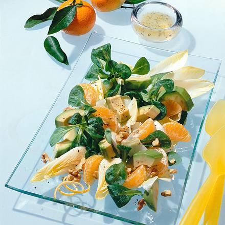 Chicorée-Feldsalat mit Mandarinen Rezept