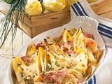 Chicorée-Gratin mit Käse und Schinken Rezept