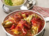 Chicorée mit Schinken und Käse in Tomatensoße Rezept