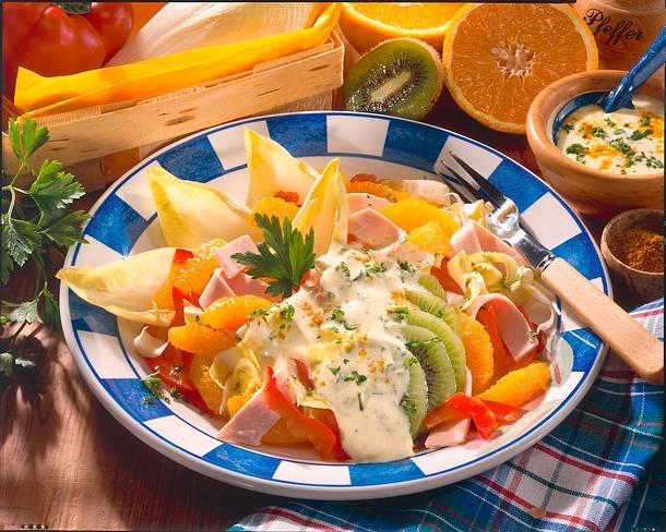 Chicorée-Obst-Salat Rezept