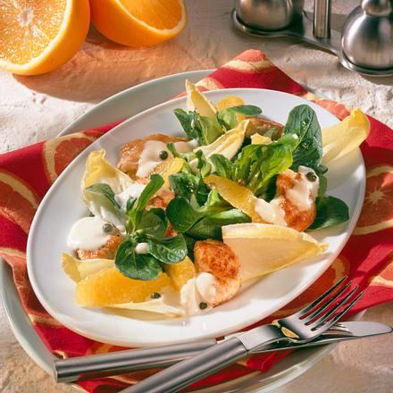 Chicorée-Salat mit Putenstreifen Rezept