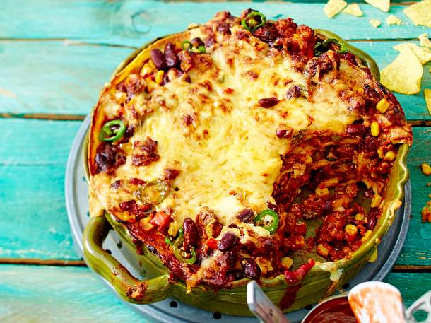 Chili con Carne-Lasagne Rezept
