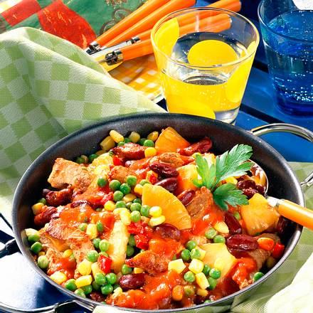 Chili con Carne mit buntem Gemüse Rezept