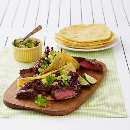 Chili-Rubbed Steak Tacos Rezept