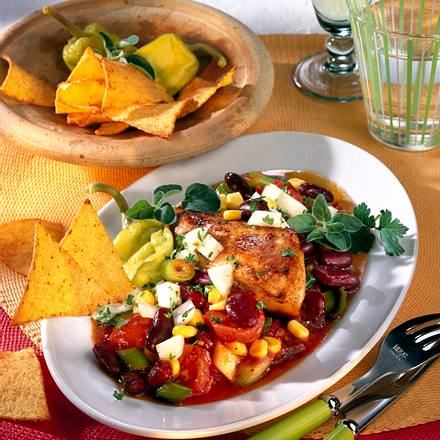 Chilli-Hähnchen mit Taco-Chips Rezept