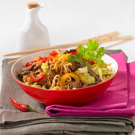 China-Nudeln mit Rindfleisch Rezept