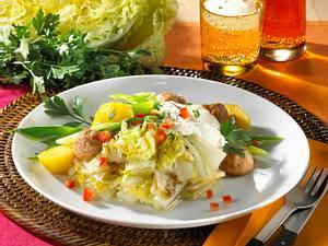 Chinakohl-Gemüse mit Brätklößchen Rezept