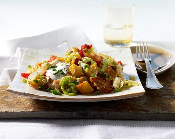 Chinakohl-Schnitzel-Pfanne Rezept