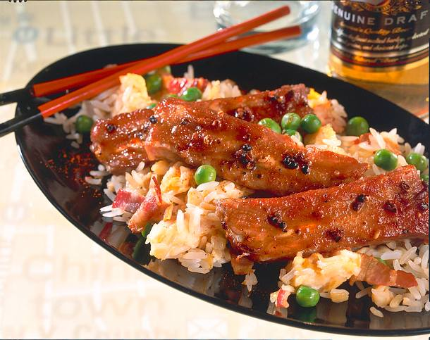 Chinese Spareribs mit gebratenem Reis Rezept