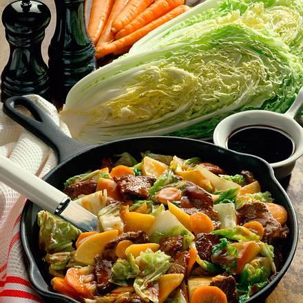 Chinesische Gemüse-Filet-Pfanne Rezept