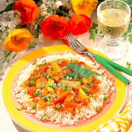 Chinesische Pfanne auf Reis Rezept