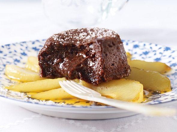 Chocolat malheur mit Birnen Rezept