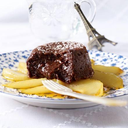 Chocolat Malheur (warmer Schokoladen-Pudding) Rezept