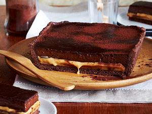 Chocolate-Caramel-Tarte (Schokoladen-Karamell-Tarte) Rezept