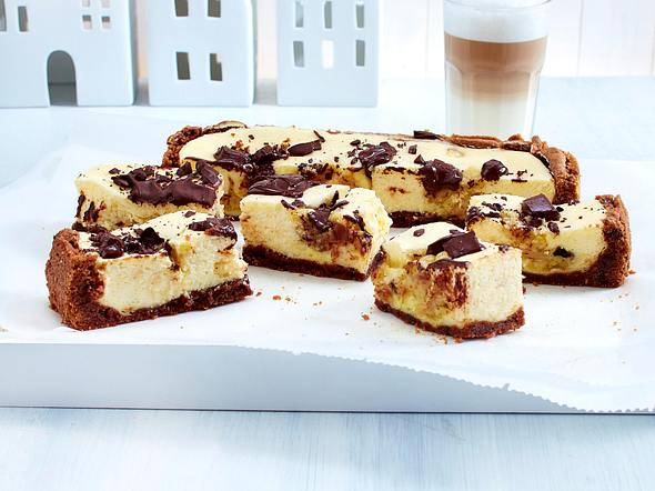 Chocolate Chip Cookie Dough Cheesecake-Squares Rezept