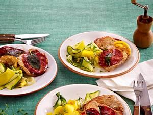 Chorizo-Saltimbocca mit Zucchinigemüse Rezept