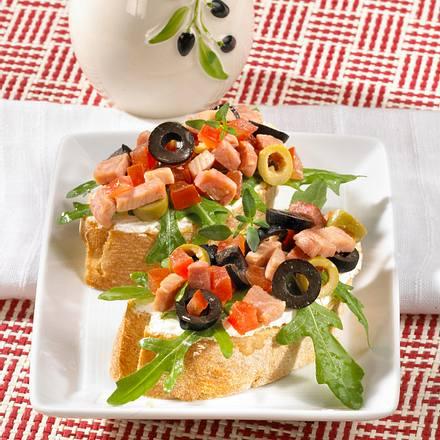 Ciabatta mit Schinken & Oliven Rezept