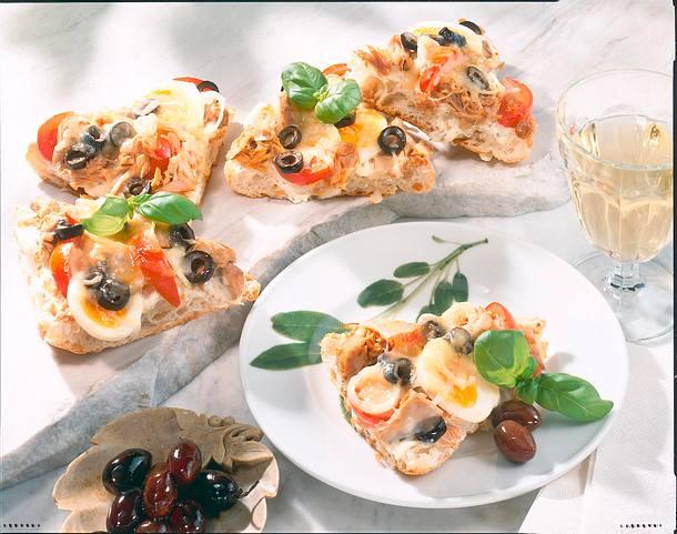Ciabatta-Pizza Rezept