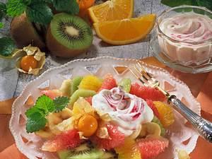 Citrus-Salat mit Himbeersahne Rezept