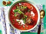Coco-Jambo-Tomatensuppe mit Linsenbällchen Rezept