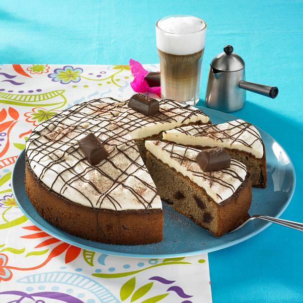 Coffee-Schokokuchen mit Baileys-Sahne Rezept