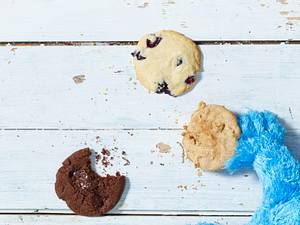 Cookies mit Schoko-Minz-Stückchen Rezept