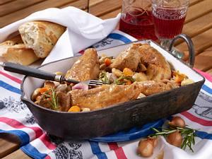 Coq au vin mit Rosewein Rezept