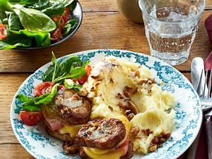 Cordon bleu Filet mit Haselnuss-Püree Rezept